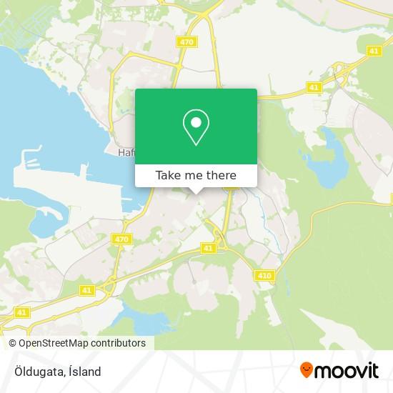 Öldugata map