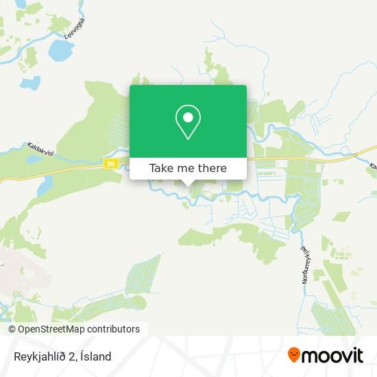 Reykjahlíð 2 map