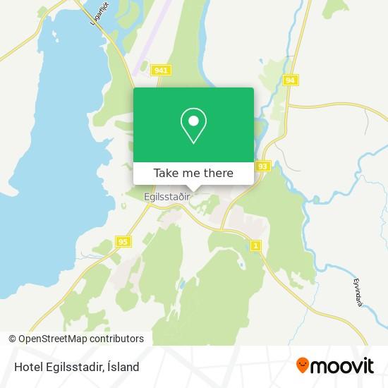 Hotel Egilsstadir map