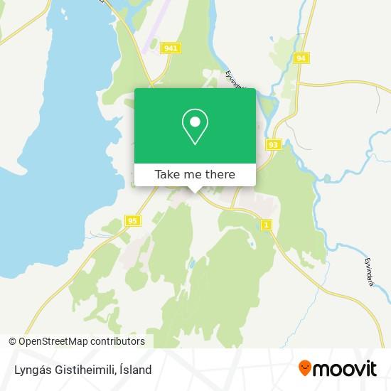 Lyngás Gistiheimili map