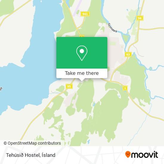 Tehúsið Hostel map