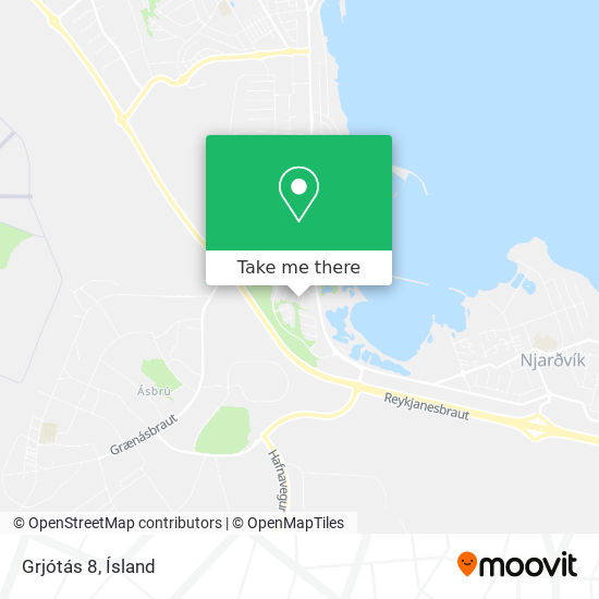 Grjótás 8 map