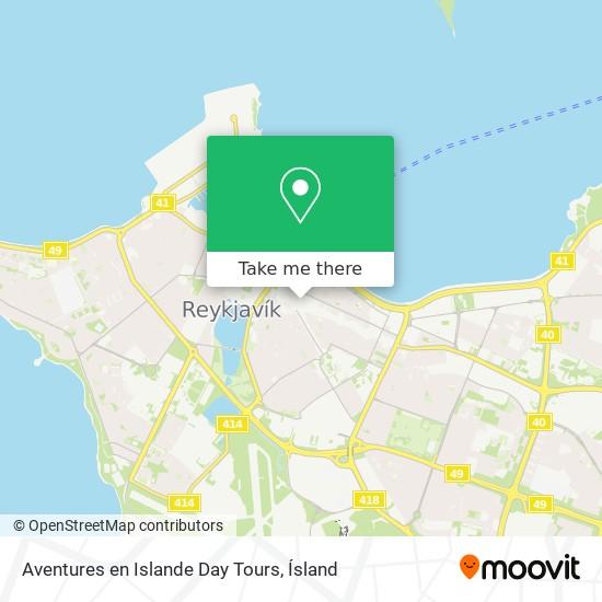 Aventures en Islande Day Tours map