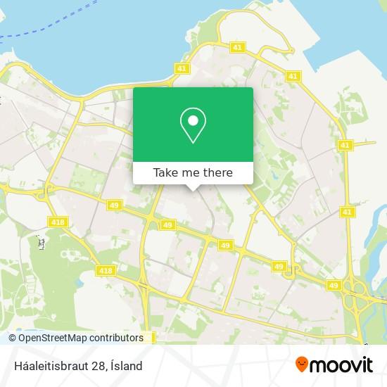 Háaleitisbraut 28 map
