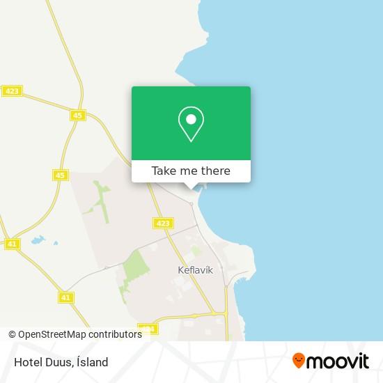Hotel Duus map