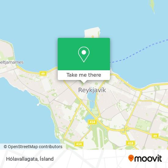 Hólavallagata map