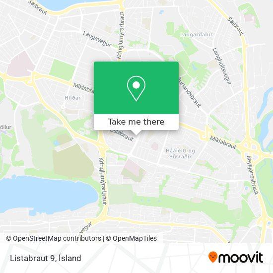 Listabraut 9 map