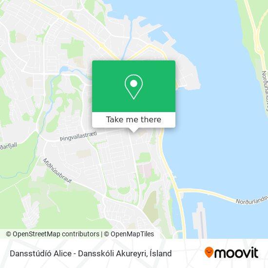 Dansstúdíó Alice - Dansskóli Akureyri map