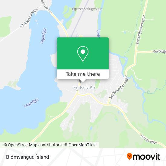 Blómvangur map