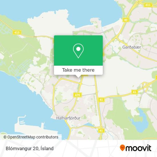 Blómvangur 20 map
