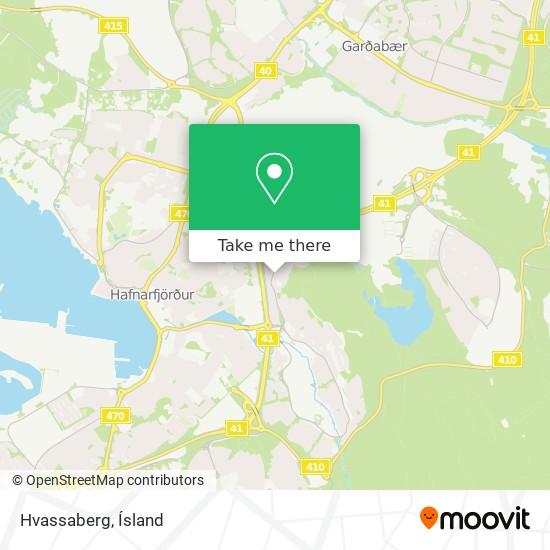 Hvassaberg map