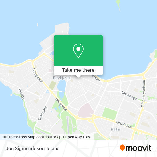 Jón Sigmundsson map
