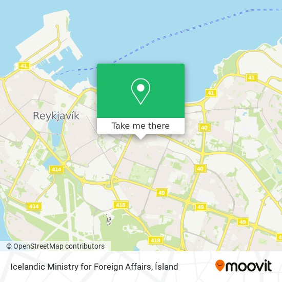 Icelandic Ministry for Foreign Affairs map