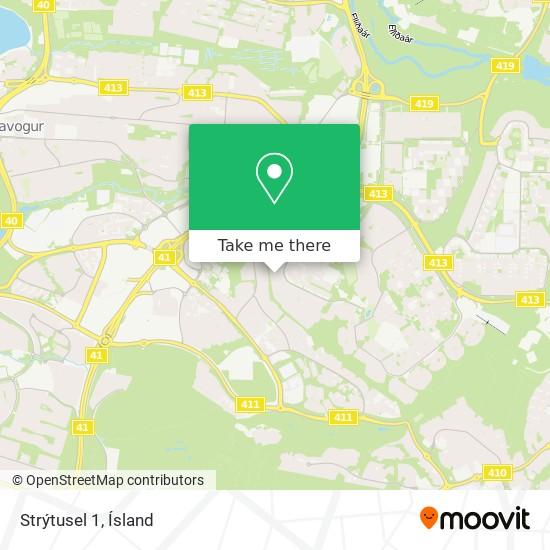 Strýtusel 1 map