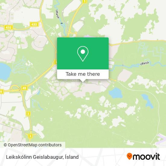 Leikskólinn Geislabaugur map