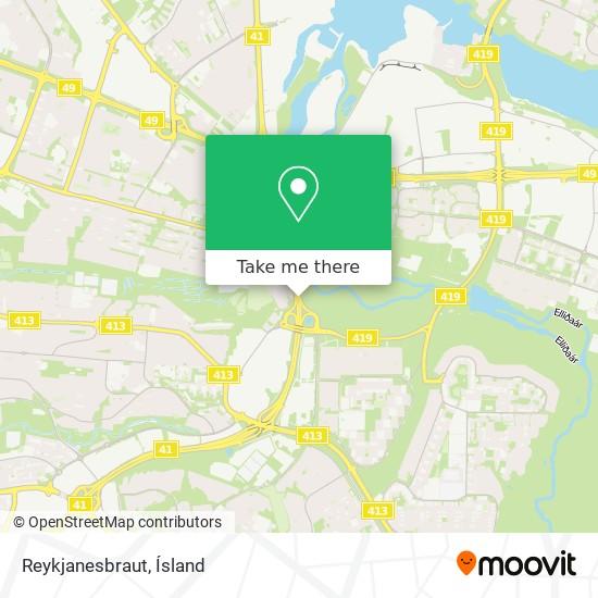 Reykjanesbraut map