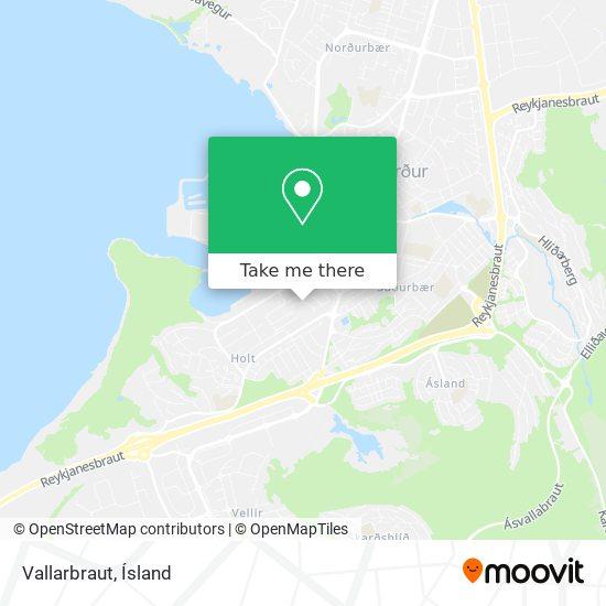 Vallarbraut map