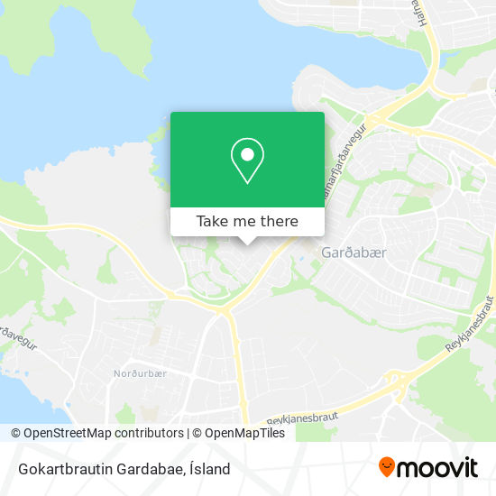 Gokartbrautin Gardabae map