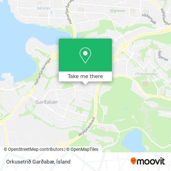 Orkusetrið Garðabæ map