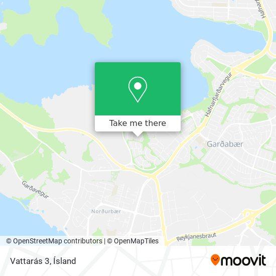 Vattarás 3 map