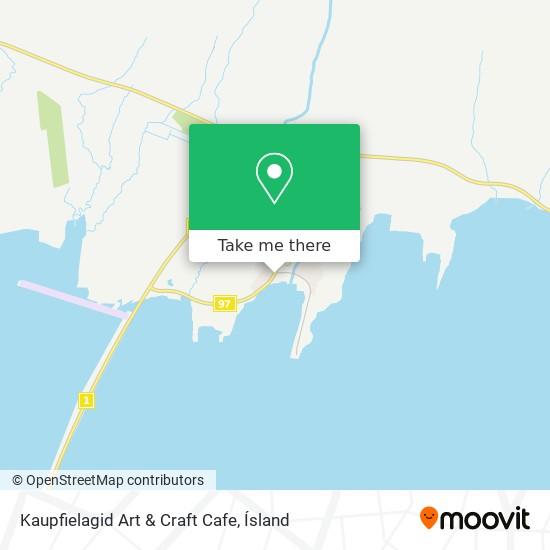 Kaupfielagid Art & Craft Cafe map
