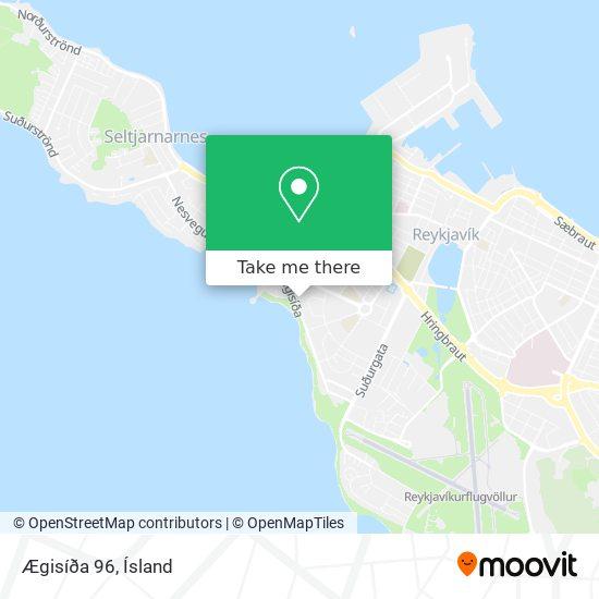 Ægisíða 96 map