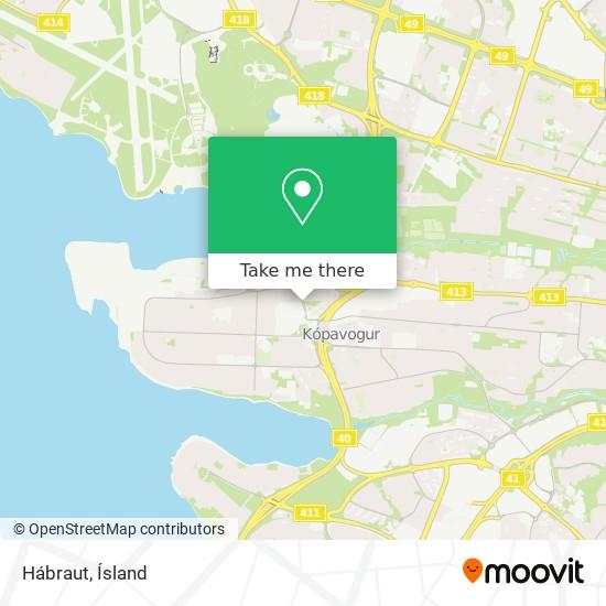 Hábraut map