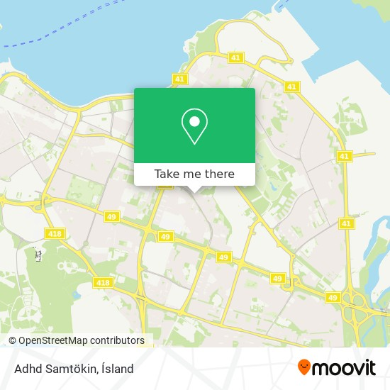 Adhd Samtökin map