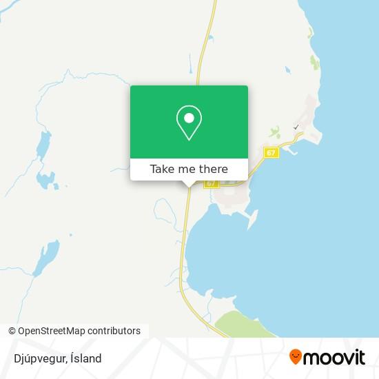 Djúpvegur map