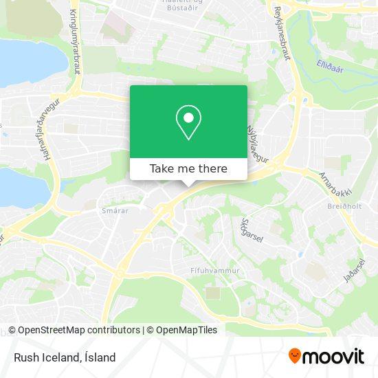 Rush Iceland map