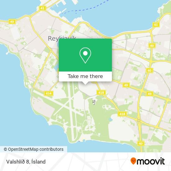 Valshlíð 8 map