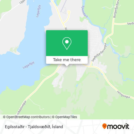 Egilsstaðir - Tjaldsvæðið map