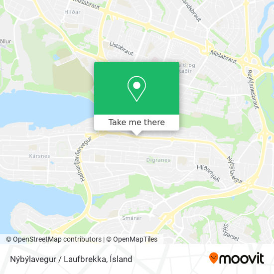 Nýbýlavegur / Laufbrekka map