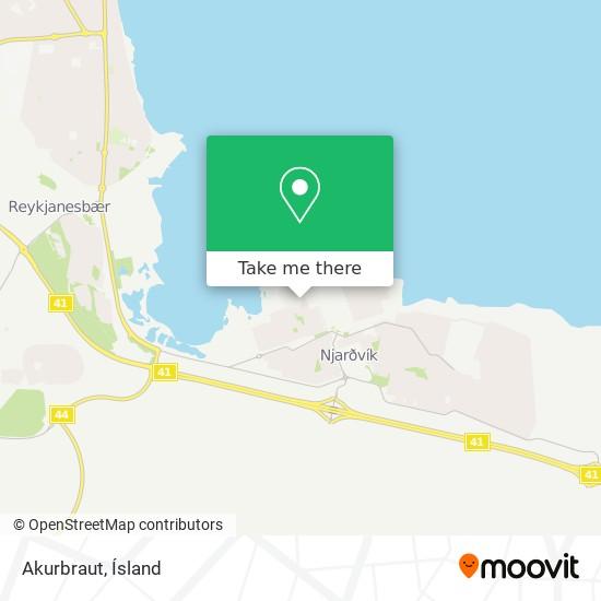 Akurbraut map