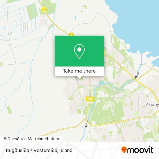Bugðusíða / Vestursíða map