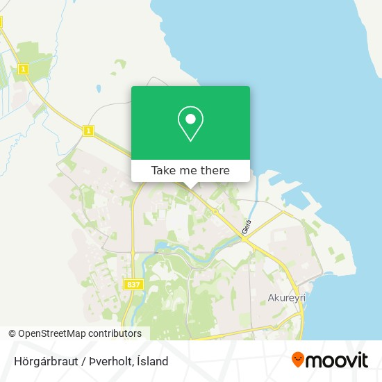 Hörgárbraut / Þverholt map