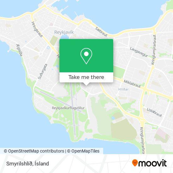 Smyrilshlíð map