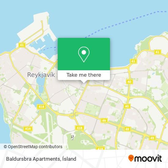 Baldursbra Apartments map