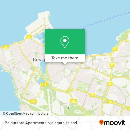 Baldursbra Apartments Njalsgata map
