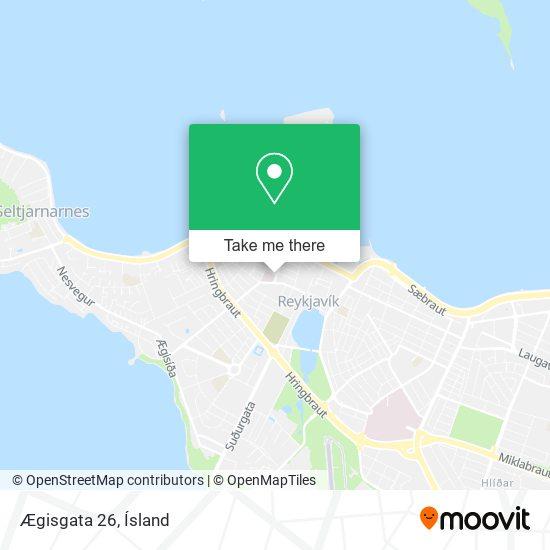 Ægisgata 26 map