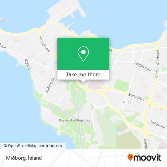 Miðborg map