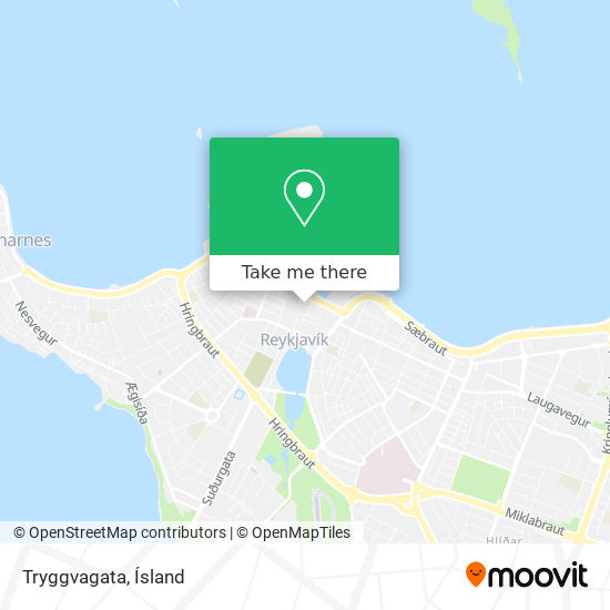 Tryggvagata map