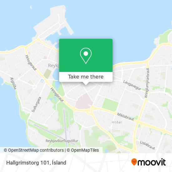 Hallgrímstorg 101 map