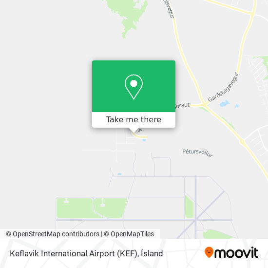 Keflavik International Airport (KEF) map