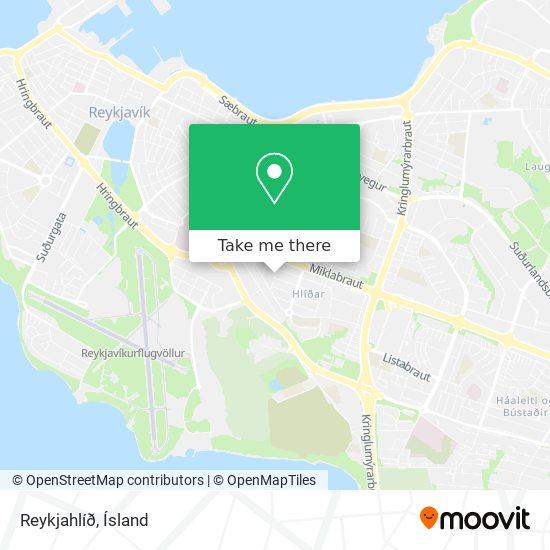 Reykjahlíð map
