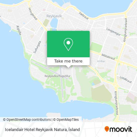 Icelandair Hotel Reykjavik Natura map