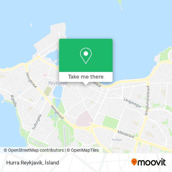Hurra Reykjavik map