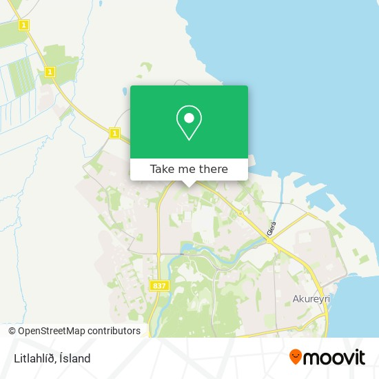 Litlahlíð map