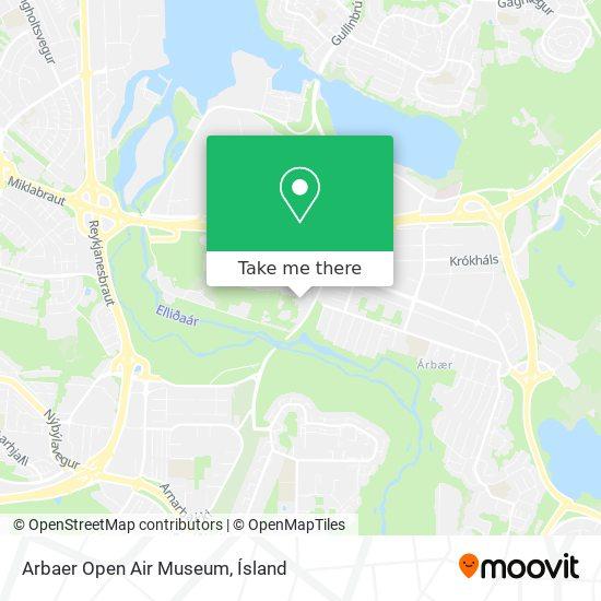Arbaer Open Air Museum map
