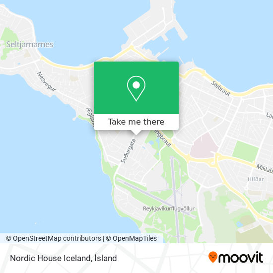Nordic House Iceland map